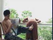 jap boys getting playfull i the morning