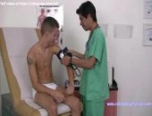 naughty male nurse plays touchy feely