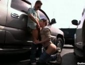 twinks fuck in a car lot