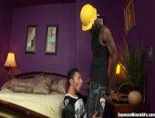 super hug black guy gets the bj of a life time