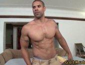 fit black stud gets a rub down