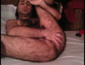hairy arab dude shows off his brown star fish