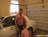 Hot Guy Giving His Dad a nice Cock Blowjob.