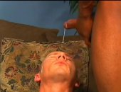Hot Guy JErking Cock and Taking Facial Cumshot.