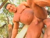 Horny Muscle Guys Sucking and Fucking Hard Outdoor.