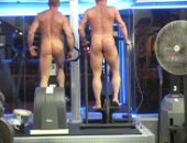 Hot Naked Muscles Having a Great Time Working Out.