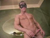 Hot Guy in Mask Jerking Off His COck.