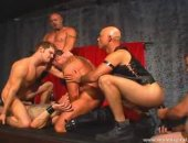 Horny Leather Guys Having a nice Group sex Party.