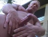 Hot Blonde Mature Guy Jerking OFf His COck.