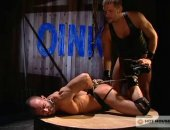 Hot Leather Guy Got Tied Up.