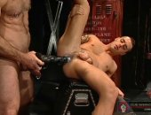 Horny Guy Inserting a Big Toy in his Friends Ass.