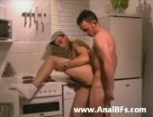 Horny Guys Sucking and Fucking Hard in the Kitchen.