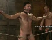 Hot Tied Guy Sucking Cock and Got Fucked.