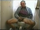 Mature Old Man Jerking Off His COck.