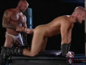 Hot Jock Taking a Huge Toy on his Ass.