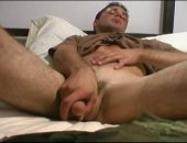 Hot Military Guy Jerking Off His Cock.