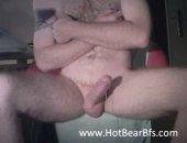 Amateur Bear Jerking off His COck.