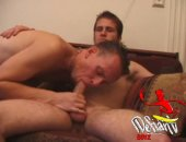 Couple Jerking and Sucking Cock.
