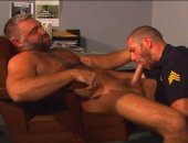Hot Officer Sucking Bears Cock and He Got Fucked.