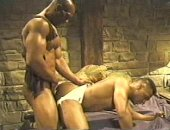 Black Muscle Guy Fucking His Friend.