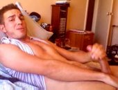 Horny Hunk Jerking Off His Cock.