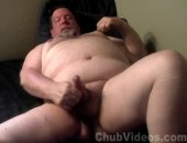 Horny Fat Bear JErking Off His Cock.
