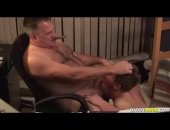 Hot Daddy Got Sucked By a Young Guy.