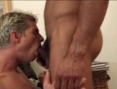 Watch these 2 young muscular guys as they enjoy their ass play together.