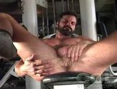 Hot Lonely Bear Jerking off His Cock.