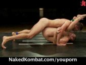 Amateur Fighters Got naked while fighting.