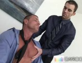 Amateur Office Gay trying to please his boss.