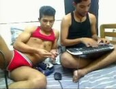 Hot guys fuck and chat on webcam