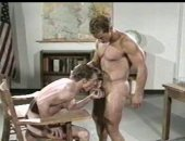 Hot vintage fucking movie between to muscle guys,