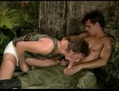 getting a nutt off in the jungle.