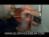 This chubster made his own amateur gloryhole! Sucking off his friend has never felt more appealing! Care for a taste?