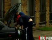 Scally lads Nick and Lukas are working on their car by a rough council estate. A dopey sub asks for directions and instead of giving him what he wants, they take what they want! Forcing their cocks into his mouth, this sub never will make that mistake again