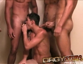 gangbang orgy starts out with a group pissing session followed by loads of cock sucking, jacking and cumming. Get the full series of piss boy...