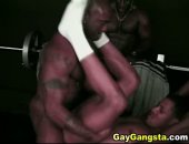 Three black buffed men in a steamy anal fucking with sexy cock eating. Watch horny black men love anal sex after deep cock sucking action.