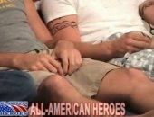 hammering tattooed army buds