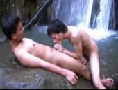 Two gay asian boys are enjoying some solitude in the mountains and decide to strip down and have a cool swim after a long hike. They come upon a...