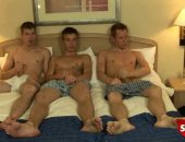 straight guys hot 3 way in hotel