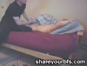Hot and horny amateur emo twink jerks his friend off