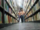 slim twinks making out in the library