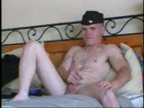 Young twink in uniform jacking off.