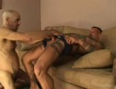 tattooed hairy men sucking a mean shaft