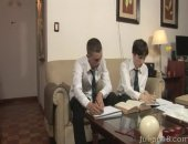 school boy twinks suck and fuck their way out of home work