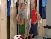 hard hunky mature men bang in the locker room