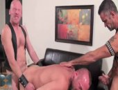 hard leather studs bareback spit roast