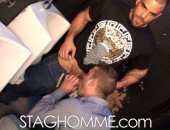 hairy fit hunks fucking in the washroom of a night club