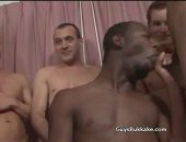 Horny Black Dude Sucking Cocks and Taking Facial Cumshots.